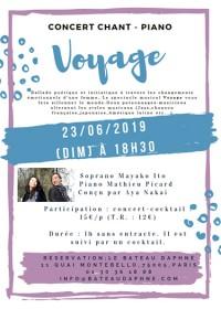 Voyage - Spectacle musical du Duo Cent Voix, conçu par Aya Nakai et le Duo Cent Voix